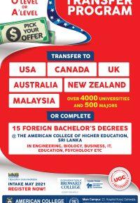 2+2 American University Transfer Program.