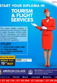 Diploma in Tourism and Flight Services