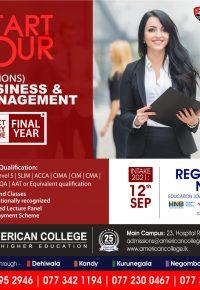 Ba (Hons) Business & Management