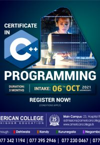 Certificate in C++ Programming