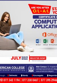 Certificate in Computer Applications