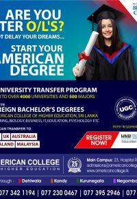 2+2 American University Transfer Program