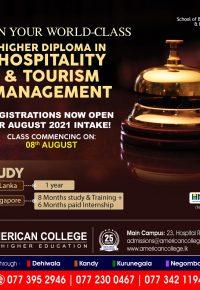 HOSPITALITY & TOURISM MANAGEMENT