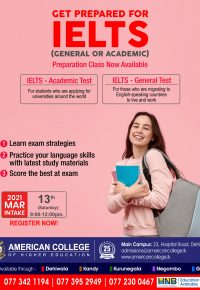 IELTS (Preparation Classes)