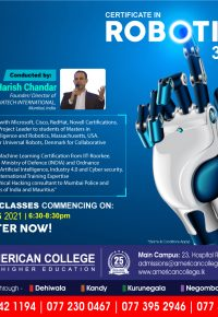 Certificate in Robotics