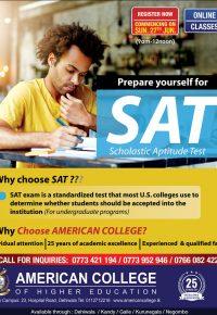 Preparation Classes for SAT-1