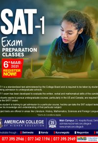 SAT-I (Preparation Classes)