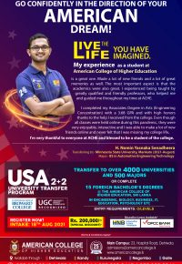 Start your American Degree in Sri Lanka and Transfer to USA.