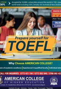TOEFL Preparation Classes