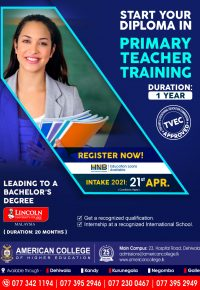 Diploma in Primary Teacher Training