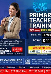 Diploma in Primary Teacher Training