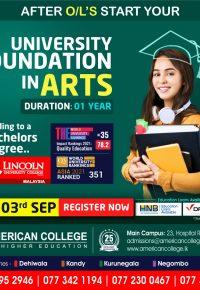 University Foundation in Arts