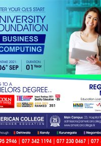 University Foundation in Business, Computing